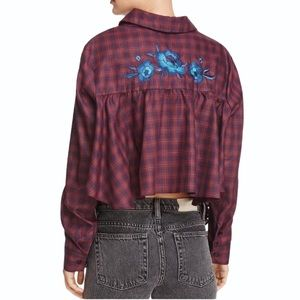 Petersyn High Back Low Front Embroidered Button Up